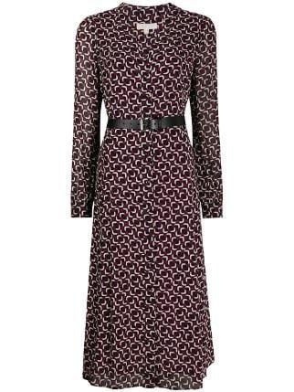 Pink Michael Michael Kors Printed Midi Dress | Farfetch.com
