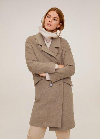 Lapels structured coat - Women | Mango United Kingdom