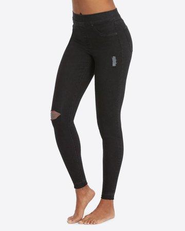 Women's Black Distressed Skinny Jeans | SPANX