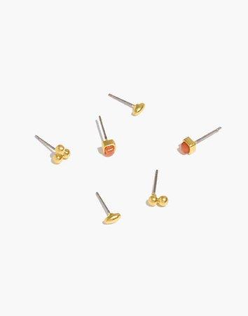 Carnelian Stud Earring Set
