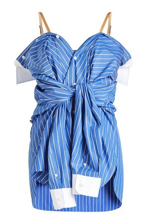 Striped Cotton Shirt with Straps Gr. IT 38