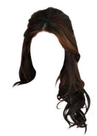 long wavy brown hair