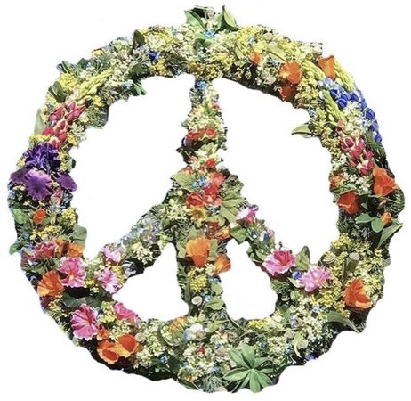 hippie 60s peace ☮️ sign