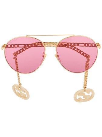 Gucci Eyewear Runda Solglasögon - Farfetch