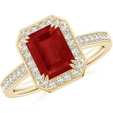 red and gold square gem ring - Google Search