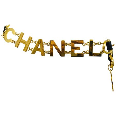 Chanel 1993 A COCO CHANEL Chain Belt with Leather For Sale at 1stdibs