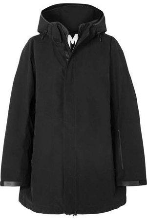 TEMPLA - Hooded Cotton-blend Parka - Black