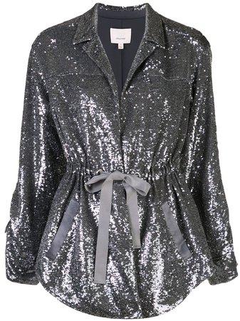 Silver Cinq A Sept Mathieu Sequinned Jacket | Farfetch.com