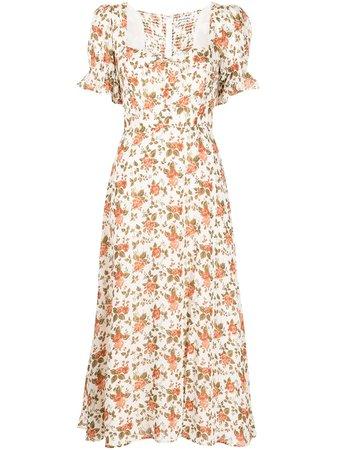 Reformation Alta floral-print Midi Dress - Farfetch
