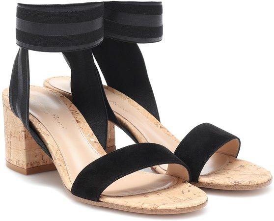 Maye suede-trimmed sandals