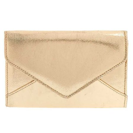 Metallic Gold Clutch Purse | Claire's