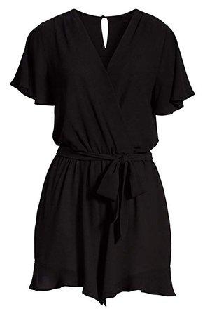 Amazon.com: LACOZY Womens Summer Loose V Neck Ruffles Sleeve Short Jumpsuit Rompers: Clothing