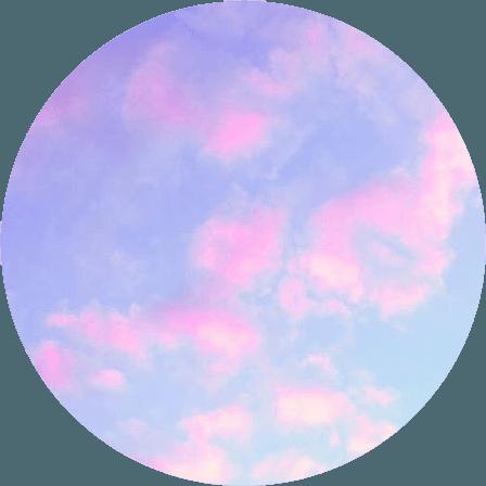 clouds pink blue purple sky circle shape kpop pastel...