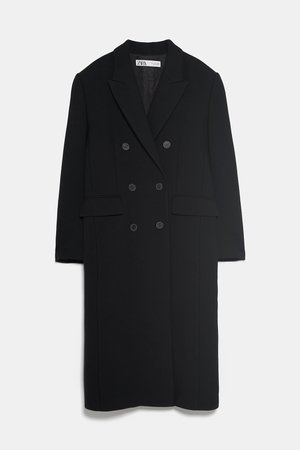BUTTONED MENSWEAR COAT - View All-COATS-WOMAN   ZARA United States