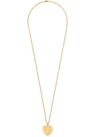 Carolina Bucci | Heart 18-karat yellow and rose gold necklace | NET-A-PORTER.COM