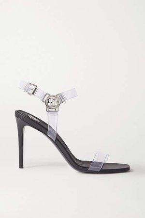 Logo-embellished Pvc Sandals - Black