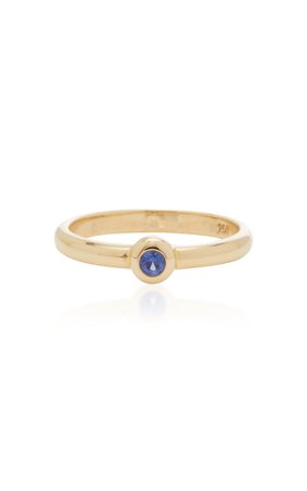RENNA Sapphire Bookend Ring