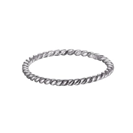 Sterling Silver Thin Twisted Rope Ring | SEOL + GOLD | Wolf & Badger