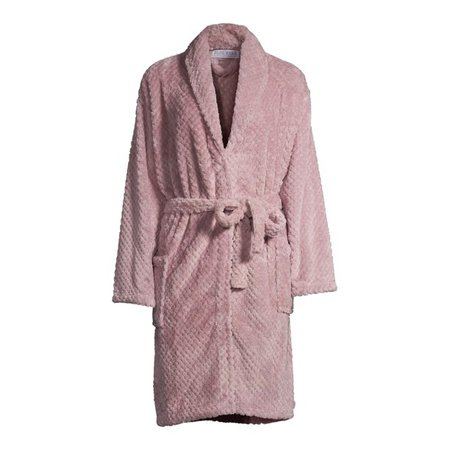 The Cozy Corner Club - Blue Star Clothing Women's 3/4 Length Textured Plush Robe - Walmart.com - Walmart.com