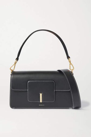 Georgia Leather Shoulder Bag - Black