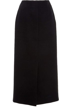 Agnona Cotton-Twill Tubino Skirt