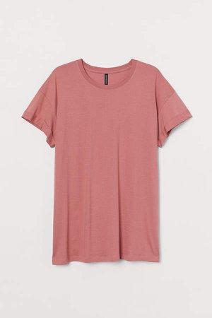 H&M+ Cotton Jersey T-shirt - Pink