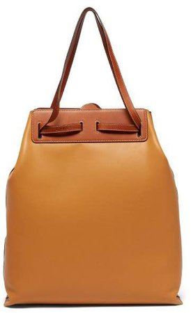 Lazo Contrast Panel Leather Tote Bag - Womens - Tan