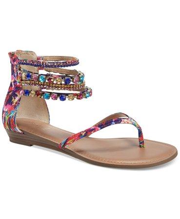 Thalia Sodi Irina Bling Flat Sandals, Created for Macy's & Reviews - Sandals - Shoes - Macy's