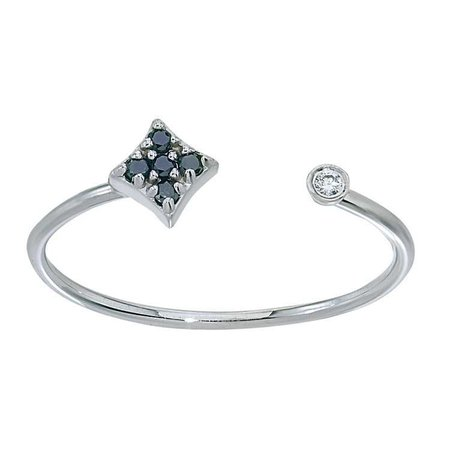 Gianna Stacking Diamond Ring in 14k White Gold by GiGi Ferranti