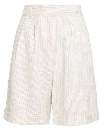 FRAME Relaxed Stripe Long Shorts | INTERMIX®
