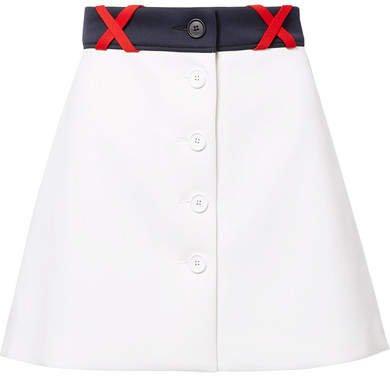 Ponte Mini Skirt - White