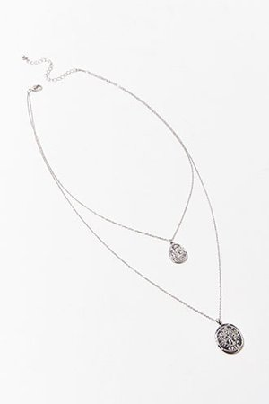 Layered Coin Pendant Necklace   Forever 21