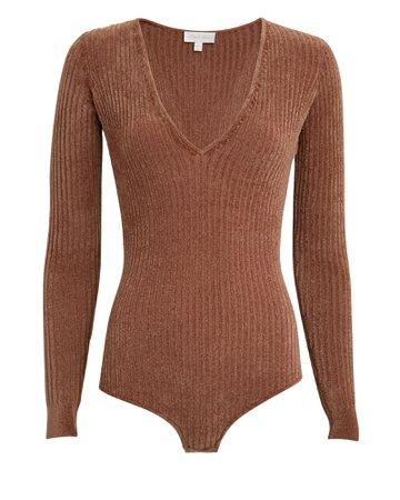 Ronny Kobo Talma Chenille Knit Bodysuit | INTERMIX®