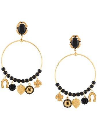 Dolce & Gabbana Pendant Hoop Earrings Ss20