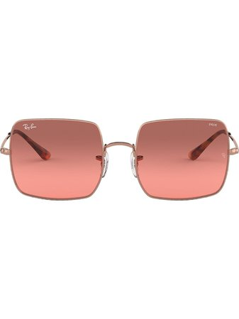 Ray-Ban 1971 Square-Frame Sunglasses RB19719151AA Pink   Farfetch