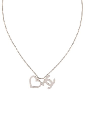 Chanel Pre-Owned 2004 CC Heart Charm Necklace