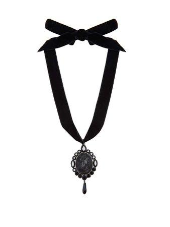 Cameo pendant velvet necklace   Miu Miu   MATCHESFASHION.COM UK