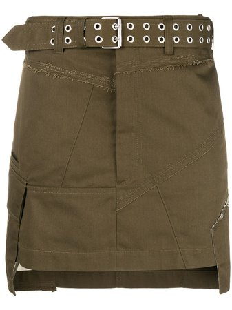 Helmut Lang Military Patch Mini Skirt - Farfetch