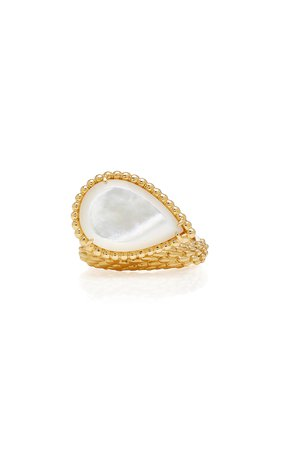 Mother Of Pearl Serpent Boheme Ring by Boucheron | Moda Operandi