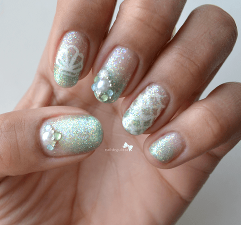 ariel inspired nails - Google Search