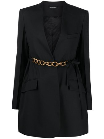 Givenchy Belted Chain Blazer Jacket - Farfetch
