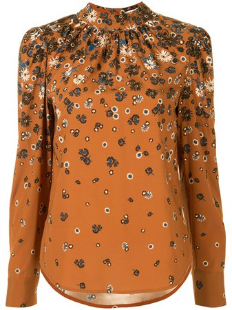 Veronica Beard floral-print Cotton Blouse - Farfetch