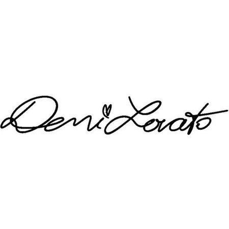 Demi Lovato signature