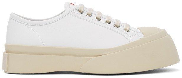 White Nappa Pablo Sneakers