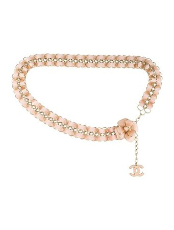 Chanel Camellia Chain-Link Belt - Accessories - CHA305603 | The RealReal