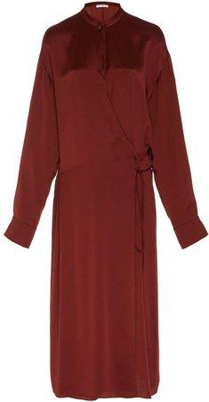 Wrap-Effect Silk Dress