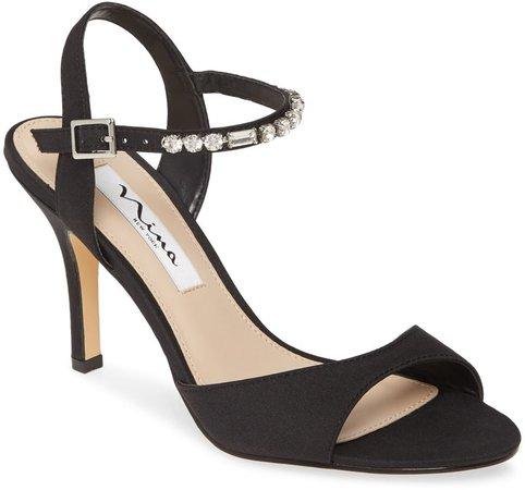 Valena Crystal Strap Sandal