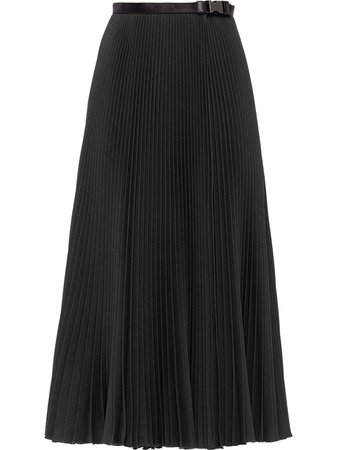 Black Prada belted pleated skirt P175RHS2021OES - Farfetch