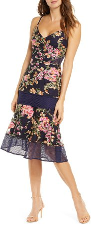 Kaylea Sleeveless Embroidered Lace Trim Dress