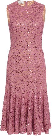 Michael Kors Collection Lace-Embroidered Dress